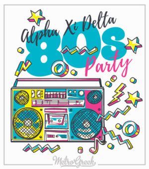 Alpha Xi Eighties Party T-shirt