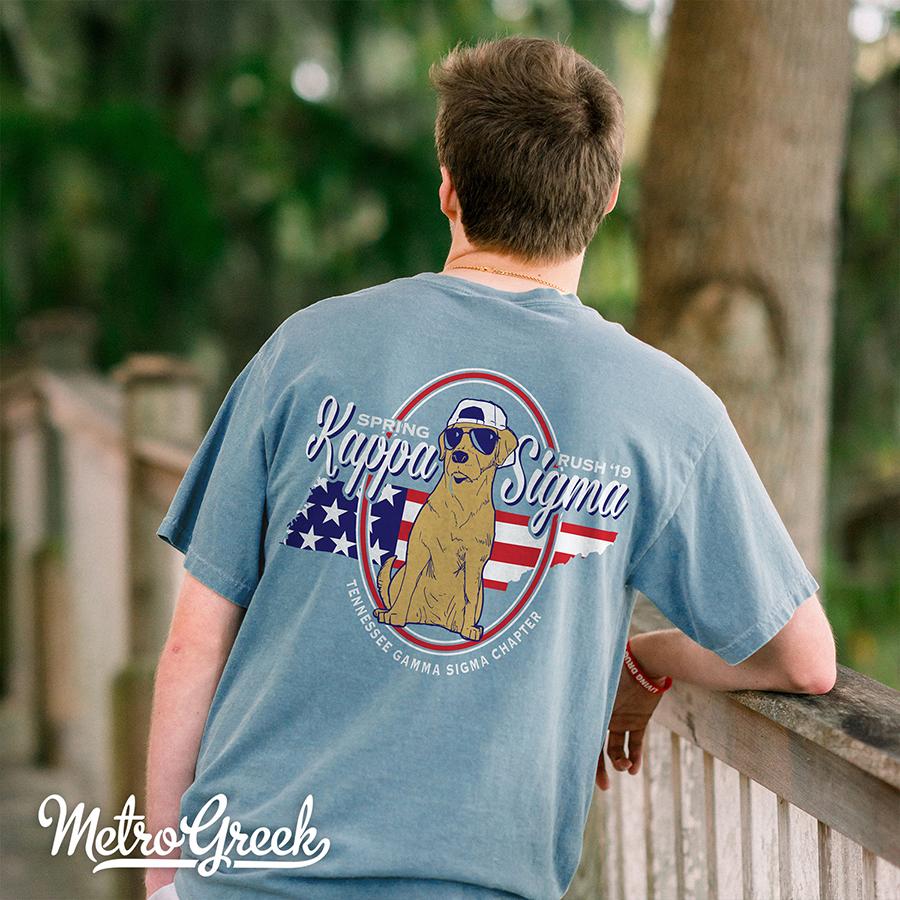 Kappa Sigma Patriotic Lab T-shirt