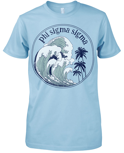 Phi Sigma Sigma Surf T-shirt