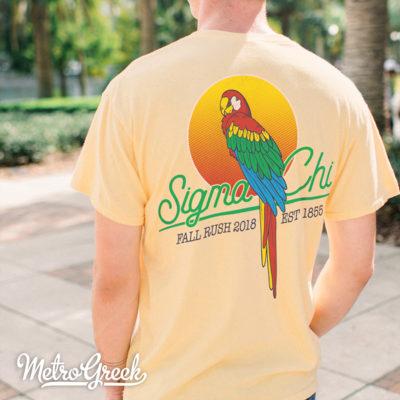 Sigma Chi Parrot Beach T-shirt