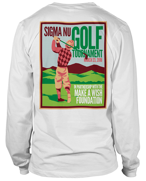Sigma Nu Golf Tournament Shirts