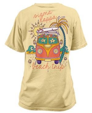 Sigma Kappa Beach Van T-shirt