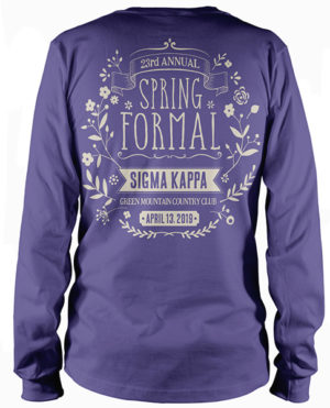 Sigma Kappa Spring Formal T-shirt