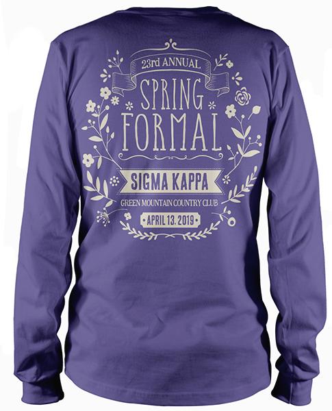 Sigma Kappa Spring Formal T-shirt