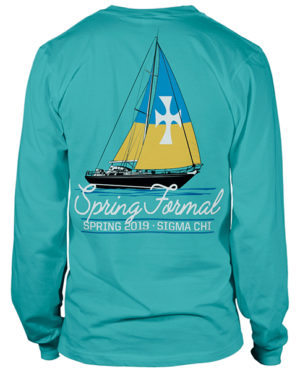 Spring Formal Shirt with Sailboat