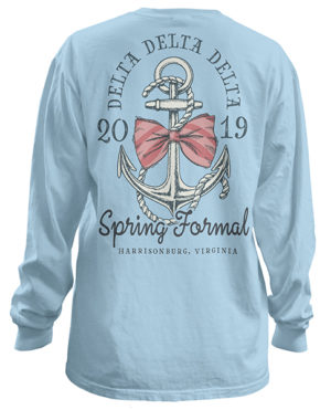 Tri Delta Anchor Formal T-shirt