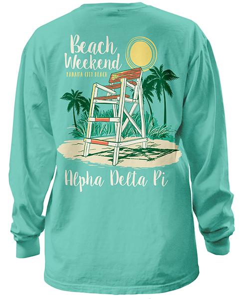 Alpha Delta Pi Beach Weekend T-shirt