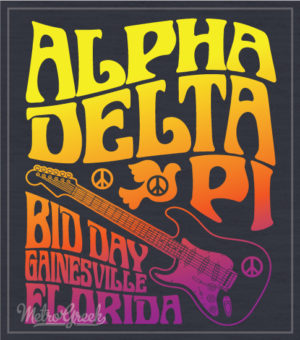Alpha Delta Pi Rock Bid Day shirts