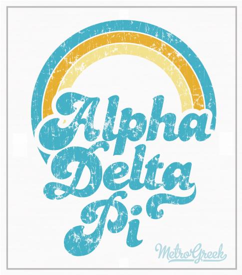 Alpha Delta Pi Rainbow T-shirt