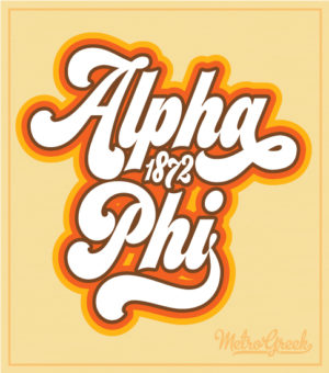 Alpha Phi Retro Bid Day Shirt