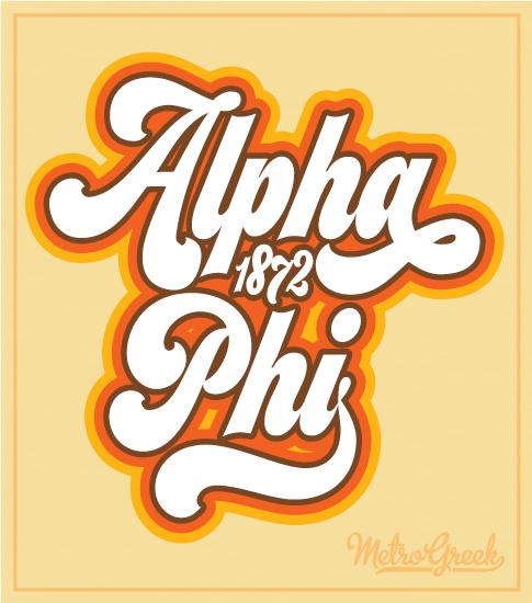 Alpha Phi Retro Bid Day Shirt