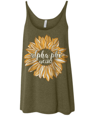 Alpha Phi Sunflower Tank Top
