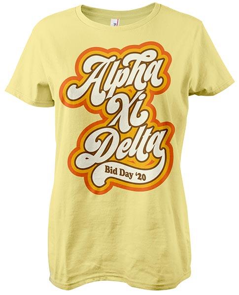 Alpha Xi Delta Retro Seventies T-shirt