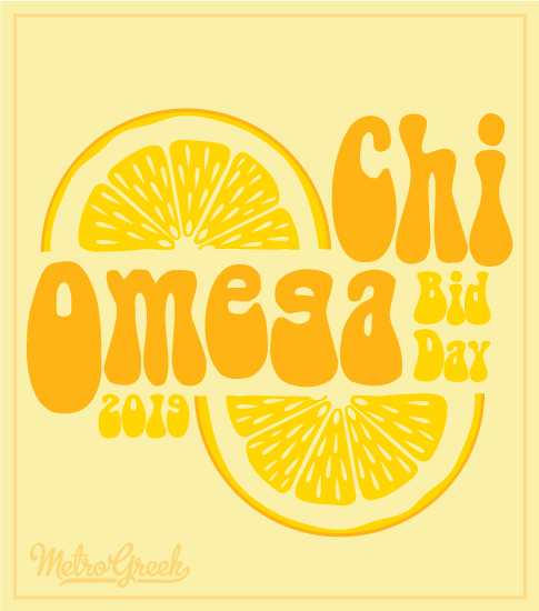 Chi Omega Lemon Bid Day T-shirt