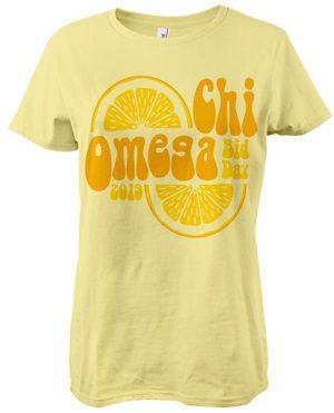 Chi Omega Lemon Bid Day T-shirt
