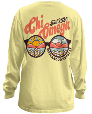 Chi Omega Sisterhood Shirt Sunglasses