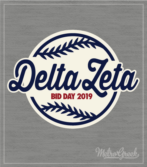 Delta Zeta Bid Day Baseball Shirt