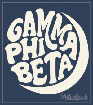 Gamma Phi Beta Retro Moon Shirt