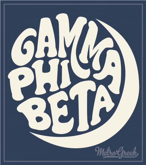 Gamma Phi Beta Retro Moon Shirt