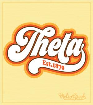 Kappa Alpha Theta Retro Script T-shirts