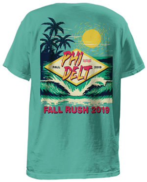 Phi Delt Retro Beach Shirt