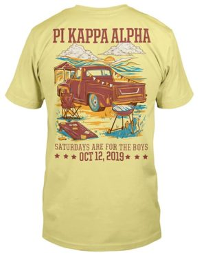Pi Kappa Alpha Tailgating Shirt with Pickup