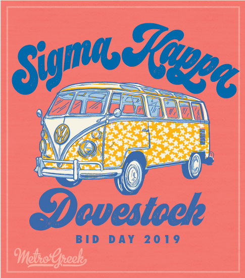 Sigma Kappa Seventies Bid Day Shirt