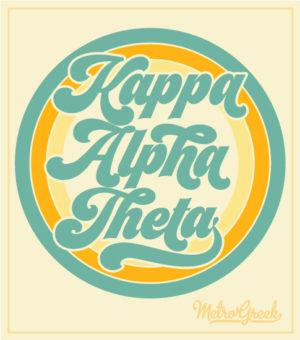 Kappa Alpha Theta Retro T-shirt