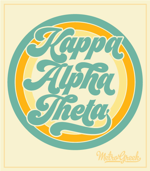 1795 Kappa Alpha Theta Retro Circle T-shirt | Greek Shirts