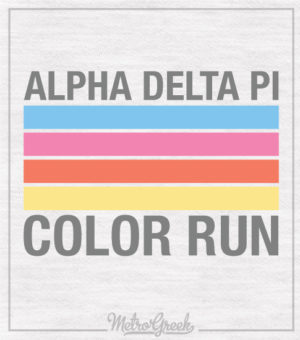 Alpha Delta Pi Color Run Shirt