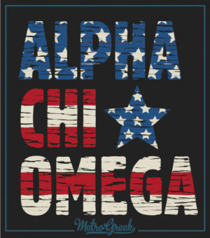 Alpha Chi Omega Flag T-shirt