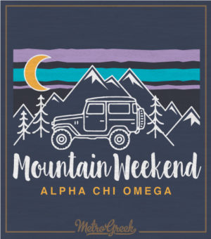 Alpha Chi Omega Mountain Shirt