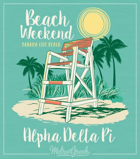 Alpha Delta Pi Beach Weekend T-shirt