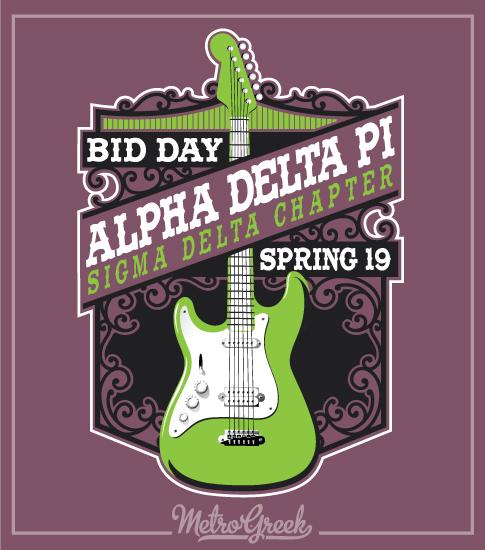 Alpha Delta Pi Rock Bid Day Shirt