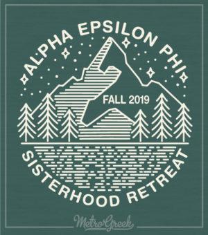Alpha Epsilon Phi Mountain Shirt