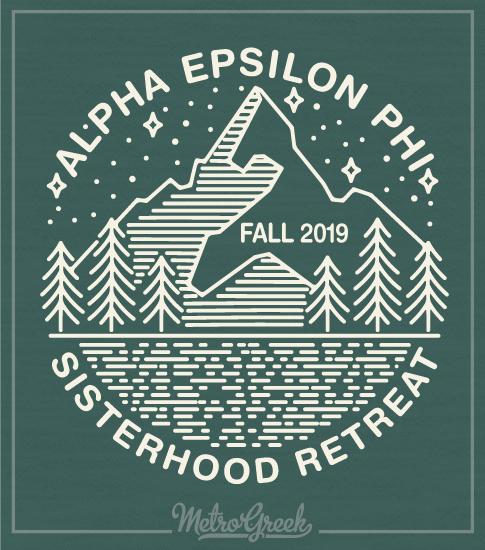 Alpha Epsilon Phi Mountain Shirt