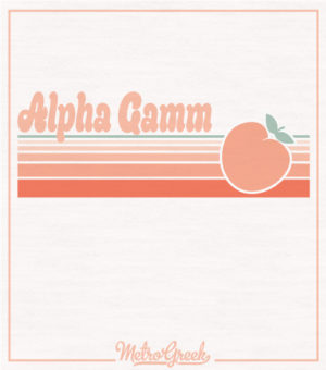 Alpha Gamm Shirt Throwback Peach