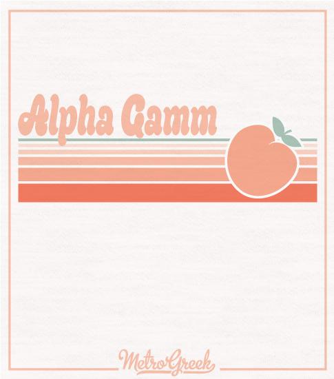 Alpha Gamm Shirt Throwback Peach