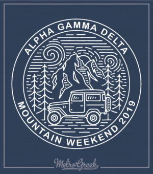 Alpha Gamma Delta Mountain T-shirt