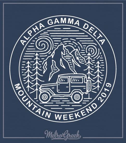 Alpha Gamma Delta Mountain T-shirt