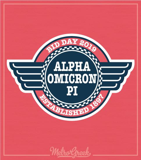 Alpha Omicron Pi Diner Bid Day Shirt