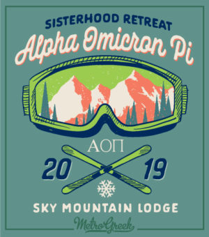 Alpha Omicron Pi Mountain Retreat Shirt