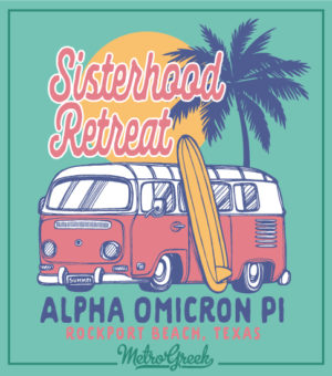 Alpha Omicron Pi Beach Retreat Shirt