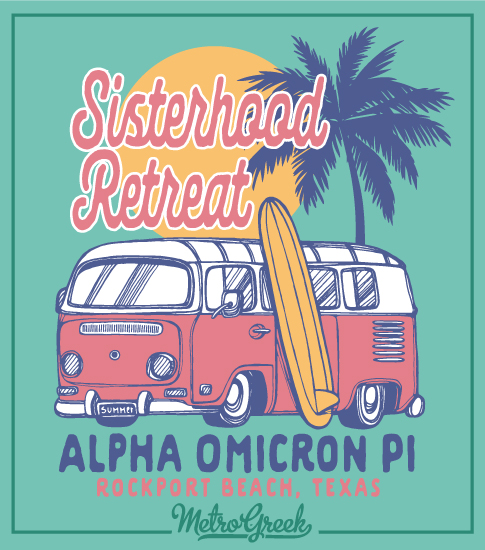 Alpha Omicron Pi Beach Retreat Shirt