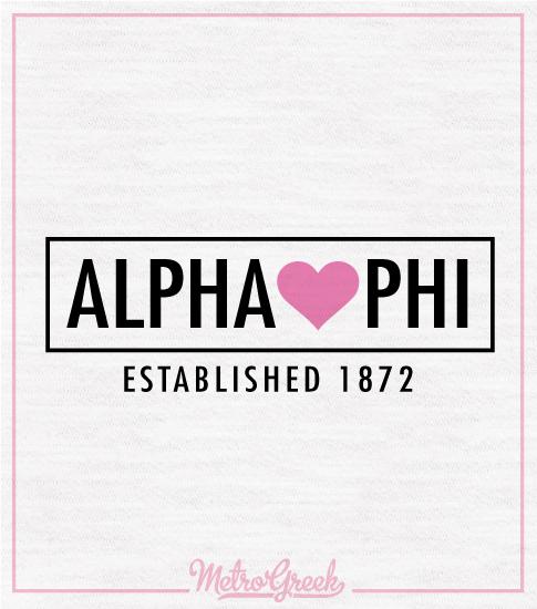 Alpha Phi Slouchy Heart T-Shirt