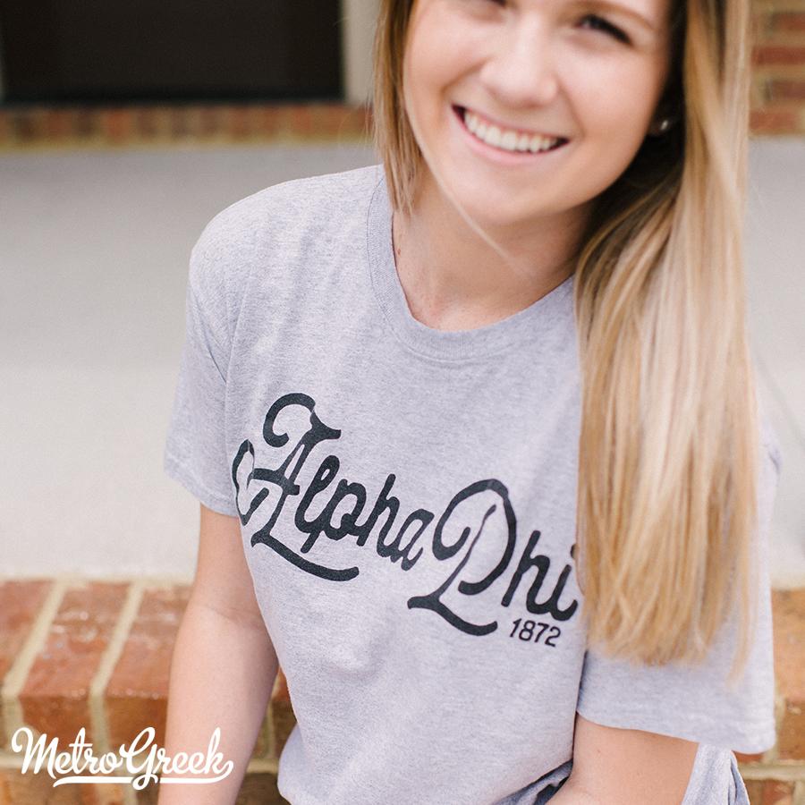 Alpha Phi Athletic Script T-shirt