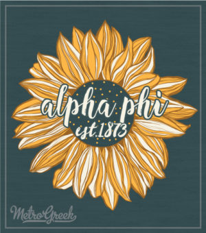 Alpha Phi Sorority Sunflower Tank Top