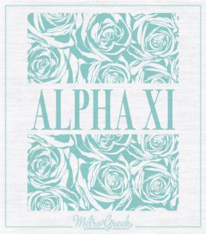 Alpha Xi Delta Floral Shirt