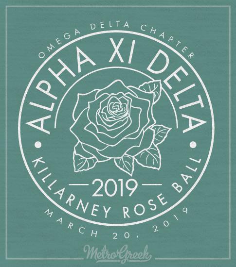 Alpha Xi Delta Rose Formal T-Shirt