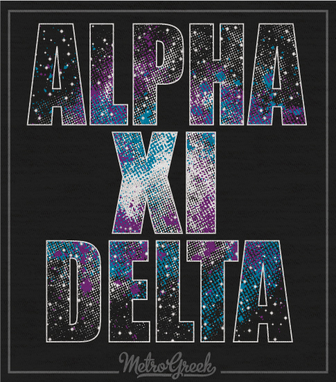 Alpha Xi Delta Galaxy Tank